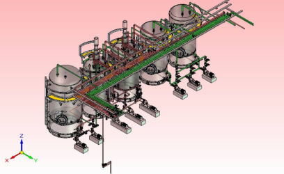 Process plant for Leaching